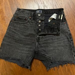 Frayed Black Jean shorts